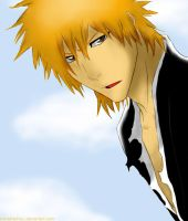 Bleach-Ichigo Long Hair by AnimeFanNo1