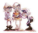 Smurfs:Delivery,Tapie,Barista and the StrangeFruit by student-yuuto