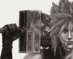 Cloud Strife 2011 Re-Draw by MyaWho