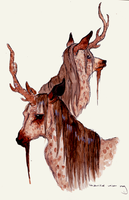 Unicorn stag by peculiarcohort
