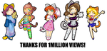 THANKS FOR 1MIL GUYS by AceroTiburon