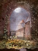 PREMIUM background - A Medieval-Place4 by Euselia