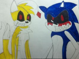 SONIC.EXE AND THE TAILS DOLL by sonicfan1143