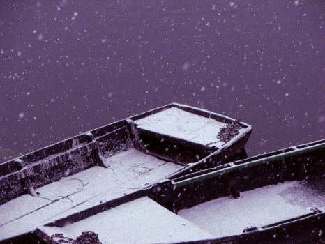 Snowy boats by FairyAshes
