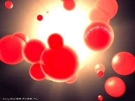 Red Spheres by elixirlouise