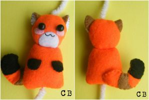 Mini red panda plushie by TheChgz