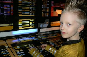 Captain on the Bridge! by Ezri-Krios