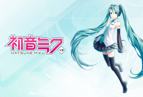 Hatsune Miku V3 1600x1080 wallpaper by alatnet
