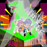 Puffy AMI YUMI AND GODZILLA by mayozilla