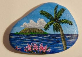 Caribbean - rock painting by Annamoon77