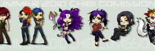 Commission: Summer 2010 Chibis by omittchi