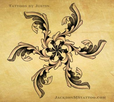 ornate star tattoo design by justin by jacksonmstattoo