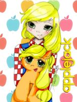 Applejack-human version- by Danielle-chan