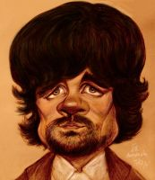 Peter Dinklage caricature by Mandala87