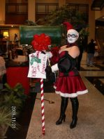 Harley Quinn Christmas cosplay by boudica9