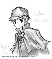 APH detective-Arthur Holmes by RabbitonBooks