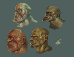 Orcs' family by Moumou38
