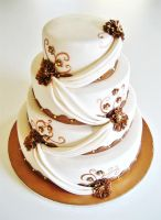 Bronze Weddingcake by Naera