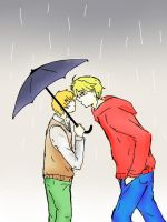 kiss in the rain by snagsephy