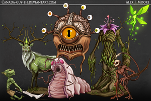 Quick Monsters, Set #1 by Canada-Guy-Eh