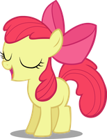 Applebloom Sings Us a Song by postcrusade