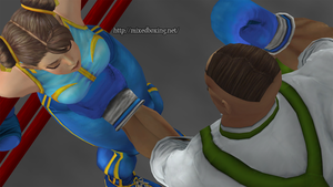 Chun Li on the Ropes by MixedBoxingArt