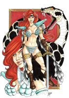 Red Sonja copics by AlexxiaTM
