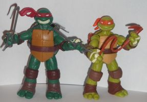 Raph and Micky by Nite-Lik