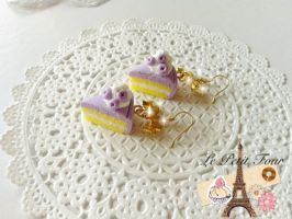 Blueberry Cheese Cake Earring by AngelicLight100