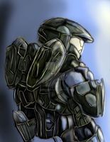 Master chief repaint by WaffleMaker9000
