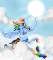 Sunbathing in the Clouds by royalppurpl3