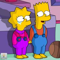 Little Bart and Lisa by mastadee