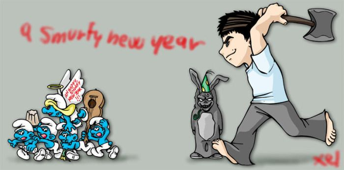 +a smurfy new year+ by donniedarko-club