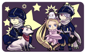 Tegami bachi stickers by Watertae