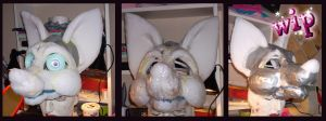 Fursuit head wip 2 by OnJedone