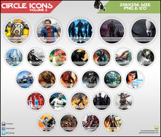 Circle Icons - Pack V2 by Crussong