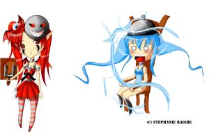Lilith and 01 Chibis by angelbunny1391