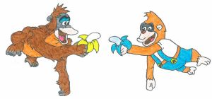 Secret Twins: King Louie and Lanky Kong by Austria-Man