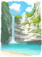 Waterfall by O-l-i-v-i