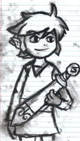 Charcoal Toon Link by TheMarioSisters