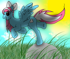 Nice Weather for Flying by BeanieNeko