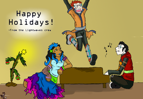 Lightwaves Christmas: Colored. by Ed21