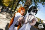 Ulquiorra and Orihime Cosplay 3 by Asteria91