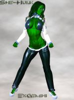 She-Hulk Casual Sport Clothing by ExGemini
