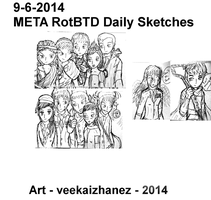 META RotBTD 2014 Daily Sketch 6-9 by veekaizhanez