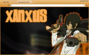 KHR: TYL Xanxus Google Chrome Theme (REVISED) by yohohotralala