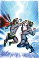 WWE Heros 6 Cover Painting by mikemayhew