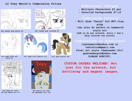 Commission artwork prices by lcponymerch
