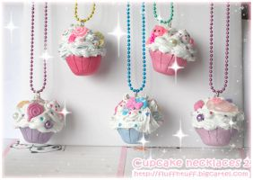 Cupcake Necklaces 2 by Fluffntuff