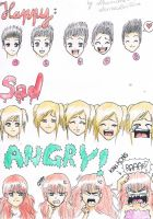 Emotions reference by AnimeAleChan